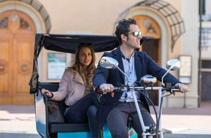Bike taxi is a fun, clean way to get around in the city
