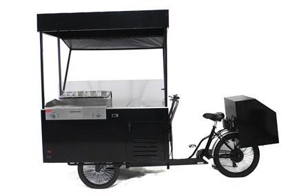 Hot dog bike and cart on wheels